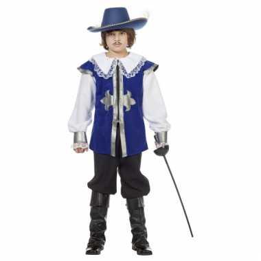 Blauw musketiers carnavalskleding kinderen Den Bosch