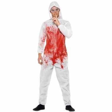 Bloed print carnavalskledingl wit heren den bosch