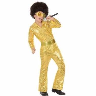 Budget disco pailletten carnavalskleding goud jongens den bosch