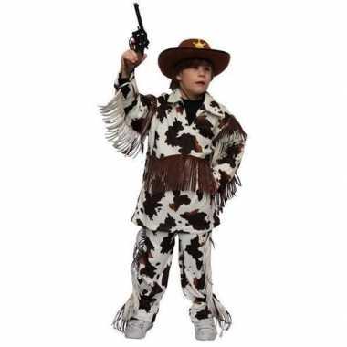 Carnaval cowboy carnavalskleding koeienprint kinderen den bosch