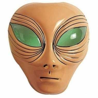 Alien gezichtsmasker bruin volwassenen carnavalskleding den bosch