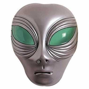 Alien gezichtsmasker zilver volwassenen carnavalskleding den bosch
