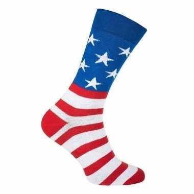 Amerika feest sokken dames heren carnavalskleding den bosch