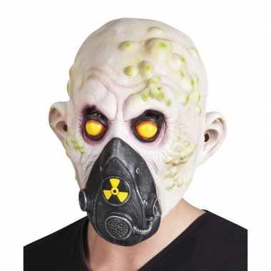 Atoombom slachtoffer halloween/horror masker latex carnavalskleding d