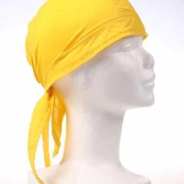 Carnavalskleding bandana geel