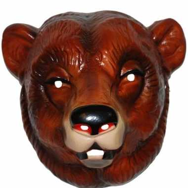 Beren masker bruin volwassenen carnavalskleding den bosch