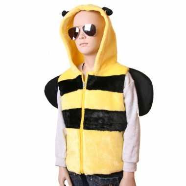 Carnavalskleding bijen bodywarmer kinderen