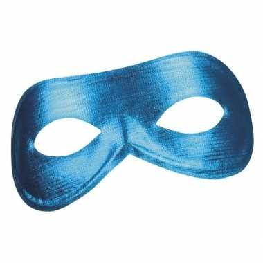 Blauw mysterieus oogmasker glimmend dames carnavalskleding den bosch