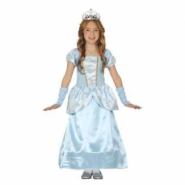 Blauw prinsessenjurkje meisjes carnavalskleding den bosch