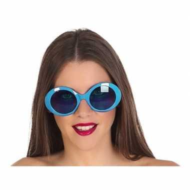 Blauwe dames verkleedbril carnavalskleding den bosch