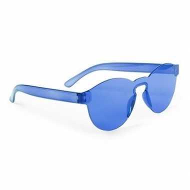 Blauwe feestbril volwassenen carnavalskleding den bosch