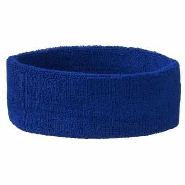 Carnavalskleding blauwe hoofd zweetbandjes