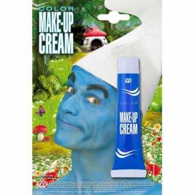Blauwe schmink tube carnavalskleding Den Bosch