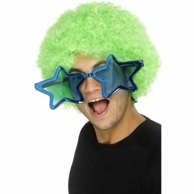 Blauwe stervormige xl verkleed bril volwassenen carnavalskleding den