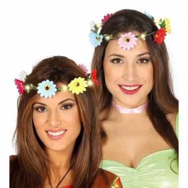 Bloemen haarkrans verlichting dames carnavalskleding den bosch