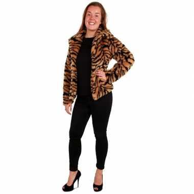 Bontjas tijgerprint dames carnavalskleding den bosch