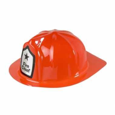 Carnavalskleding brandweer helm rood