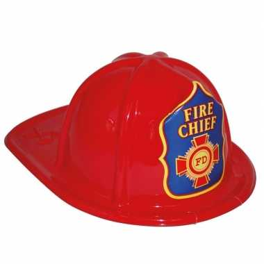 Brandweerhelm rood speelgoed verkleedaccessoire kinderen carnavalskle