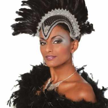 Carnavalskleding braziliaanse carnavals hoofdtooi zwart