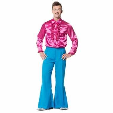 Broek blauw wijd uitlopend heren carnavalskleding Den Bosch