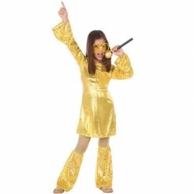 Budget disco pailletten jurk goud meisjes carnavalskleding den bosch