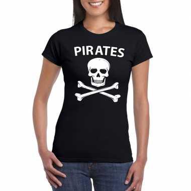 Carnaval piraten t shirt zwart dames carnavalskleding den bosch