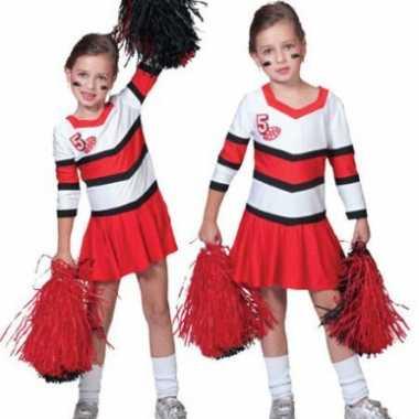 Cheerleader jurkje plooirok meiden carnavalskleding Bosch