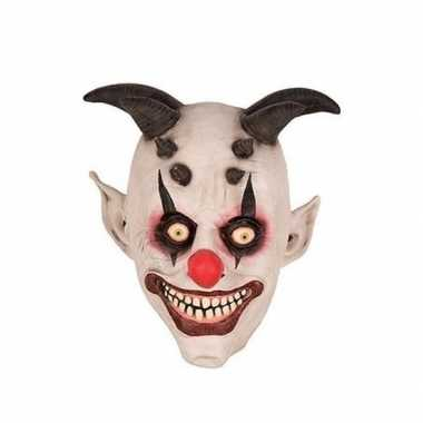Clown horror/halloween masker latex carnavalskleding den bosch