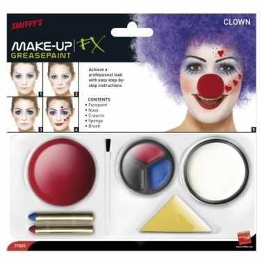 Clown schminken complete set carnavalskleding den bosch