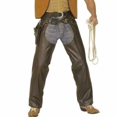 Cowboy chaps bruin carnavalskleding Den Bosch