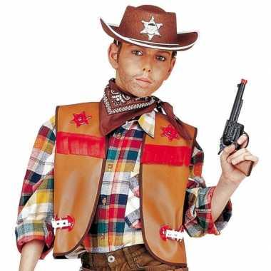 Cowboy gilet kinderen bruin carnavalskleding den bosch