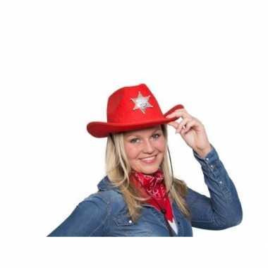 Cowboyhoed rood verlichting carnavalskleding den bosch