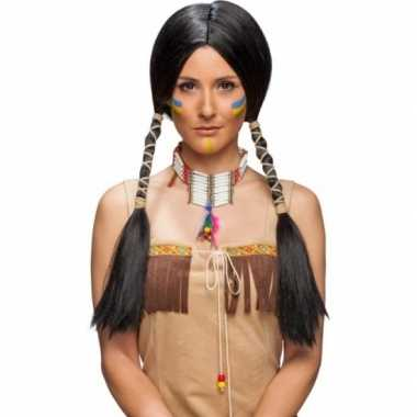 Carnavalskleding Dames Indiaan.Dames Indianen Pruik Zwart Carnavalskleding Den Bosch