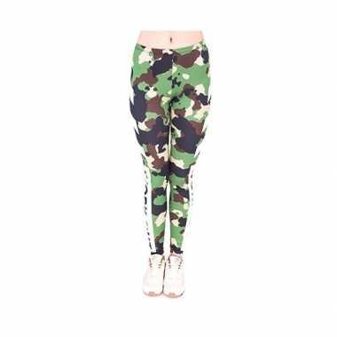 Dames legging leger camou print carnavalskleding den bosch
