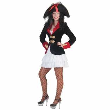 Dames piraten verkleed jurkje jas carnavalskleding den bosch