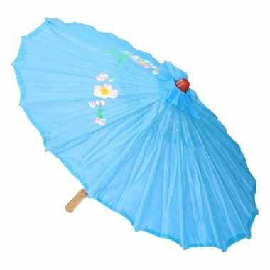 Decoratie parasol china lichtblauw carnavalskleding den bosch