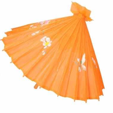 Decoratie parasol china oranje carnavalskleding den bosch