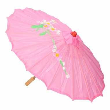 Decoratie parasol china roze carnavalskleding den bosch