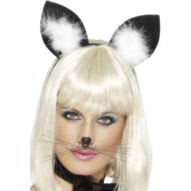 Diadeem poezen/katten oortjes dames carnavalskleding den bosch