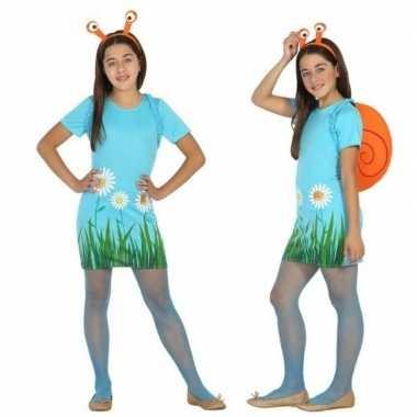 Dieren verkleedjurkje slak/slakken meisjes carnavalskleding den bosch