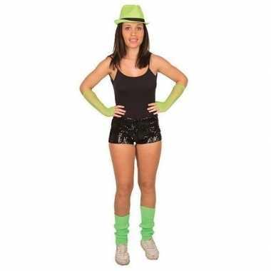 Disco broekje zwarte pailletten dames carnavalskleding den bosch