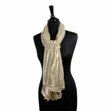 Disco sjaal gouden pailletten carnavalskleding bosch