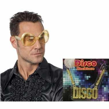 Disco verkleed accessoires mannen carnavalskleding den bosch