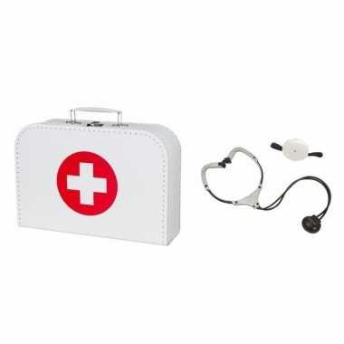 Dokters accessoires verkleed koffertje stethoscoop volwassenen carnav
