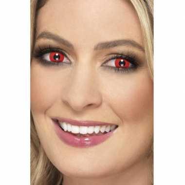 Duivel halloween feest contactlenzen rood carnavalskleding den bosch