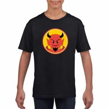 Duivel halloween t shirt zwart jongens meisjes carnavalskleding den b