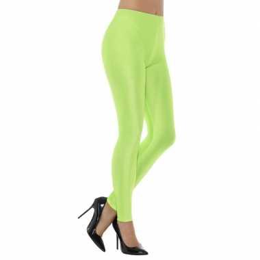 Elastische dames legging neon groen carnavalskleding den bosch