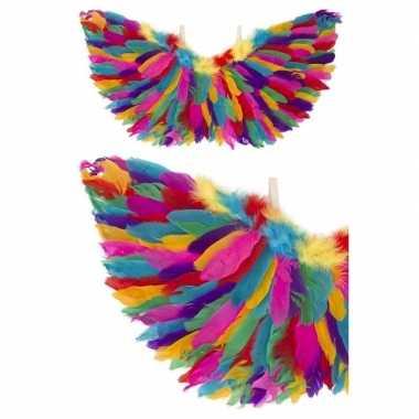 Engel verkleed vleugels regenboog veren carnavalskleding den bosch