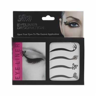 Eyeliner oog make up stickers carnavalskleding den bosch