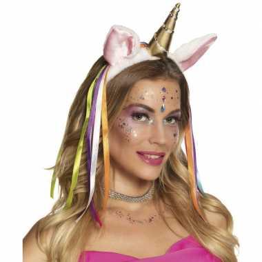 Feest eenhoorn hoofdband gouden hoorn carnavalskleding bosch